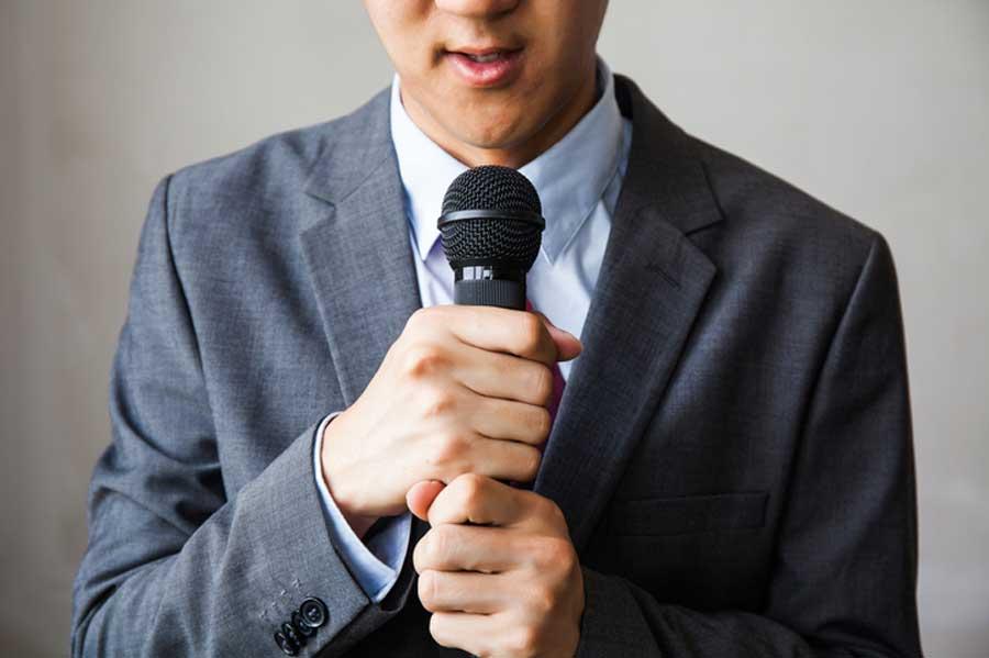 orador con miedo
